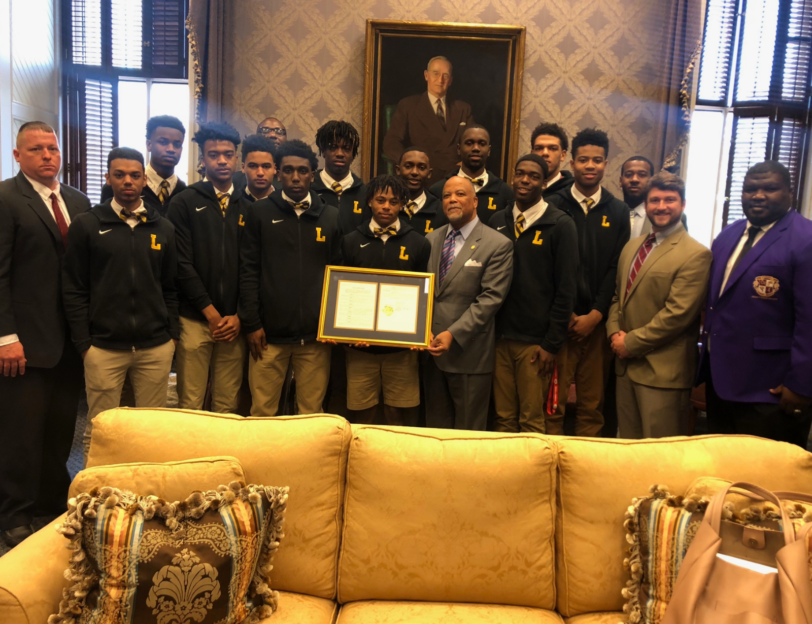Boys' National Team Honored by SC House of Representatives