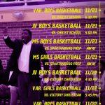 Week 11/18 – 11/22 LEC Athletic Events