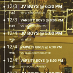 LEC Home Athletic Schedule for 12/2 – 12/7