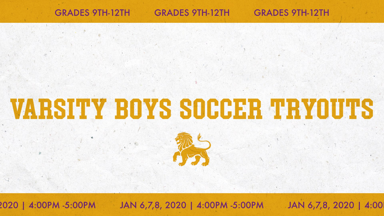 Varsity Boys Soccer Tryouts