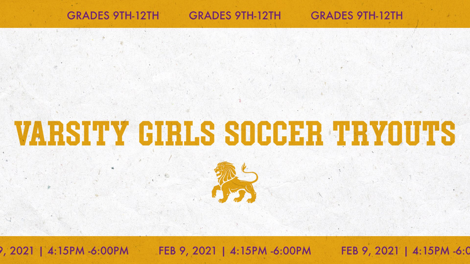 Varsity Girls Soccer Try-outs Scheduled