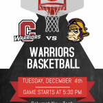 Join us as our Warriors take on the Gavit Gladiators tomorrow evening.