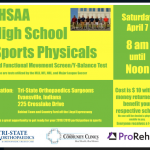 Mark your calendars for high school sport physicals!