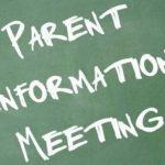 Jr/Sr High School Athletic Department Parent Meeting