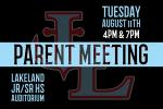 Lakeland Athletics Parent Meeting
