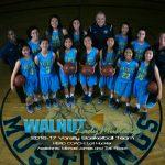 Walnut Girls Basketball Hacienda League Co-Champions