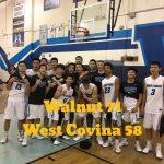 Walnut High School Boys Varsity Basketball beat West Covina High School 71-58