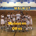 Walnut High School Boys Varsity Basketball beat Charter Oak High School 60-43