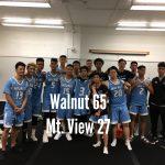 Boys Varsity Basketball beats Mountain View 65 – 27