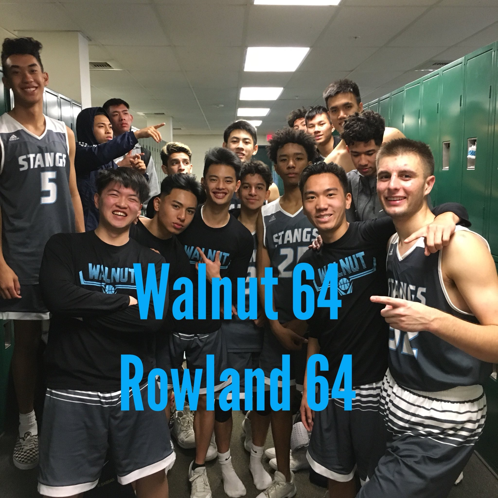 Boys Varsity Basketball beats Rowland 64 – 44