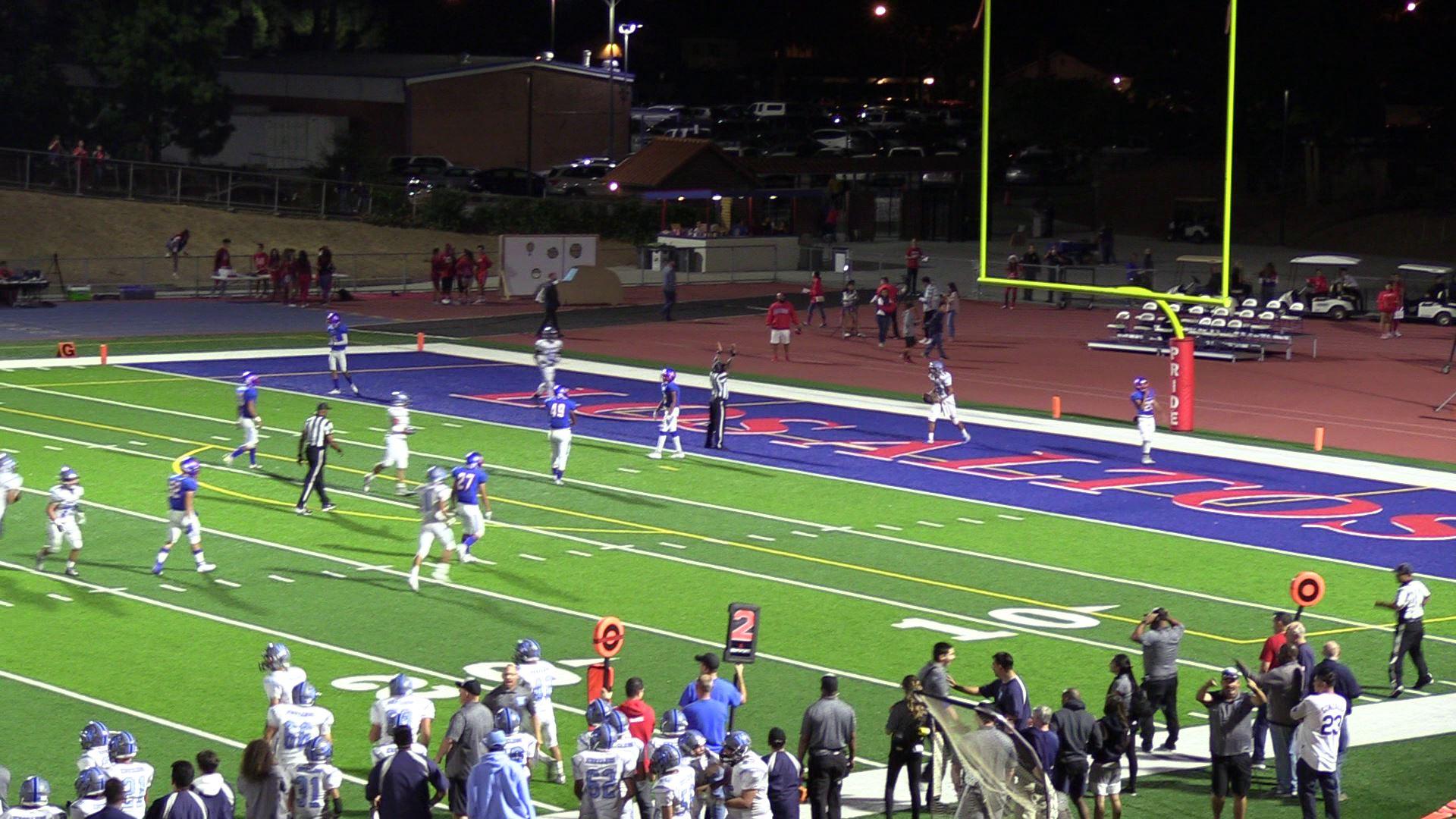 Boys Varsity Football falls to Los Altos/Hacienda Heights 41 – 7
