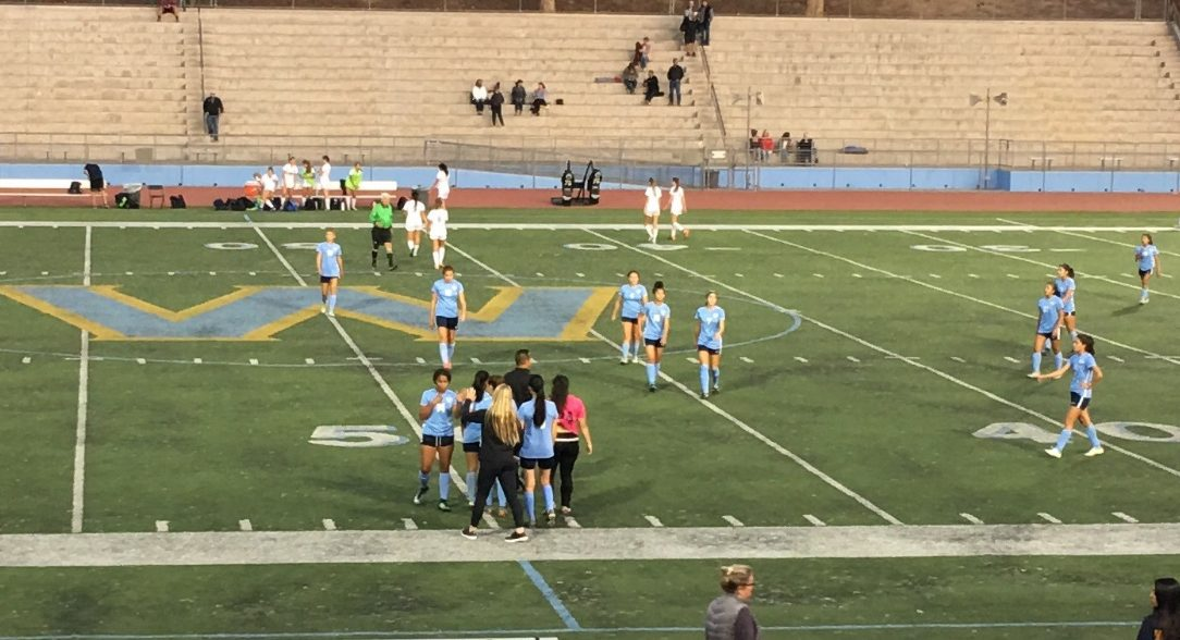 Girls varsity beat Diamond Ranch HS 2-0