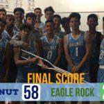 Boys Varsity Basketball beats Eagle Rock 58 – 27