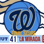 Boys Varsity Basketball falls to La Mirada 55 – 41