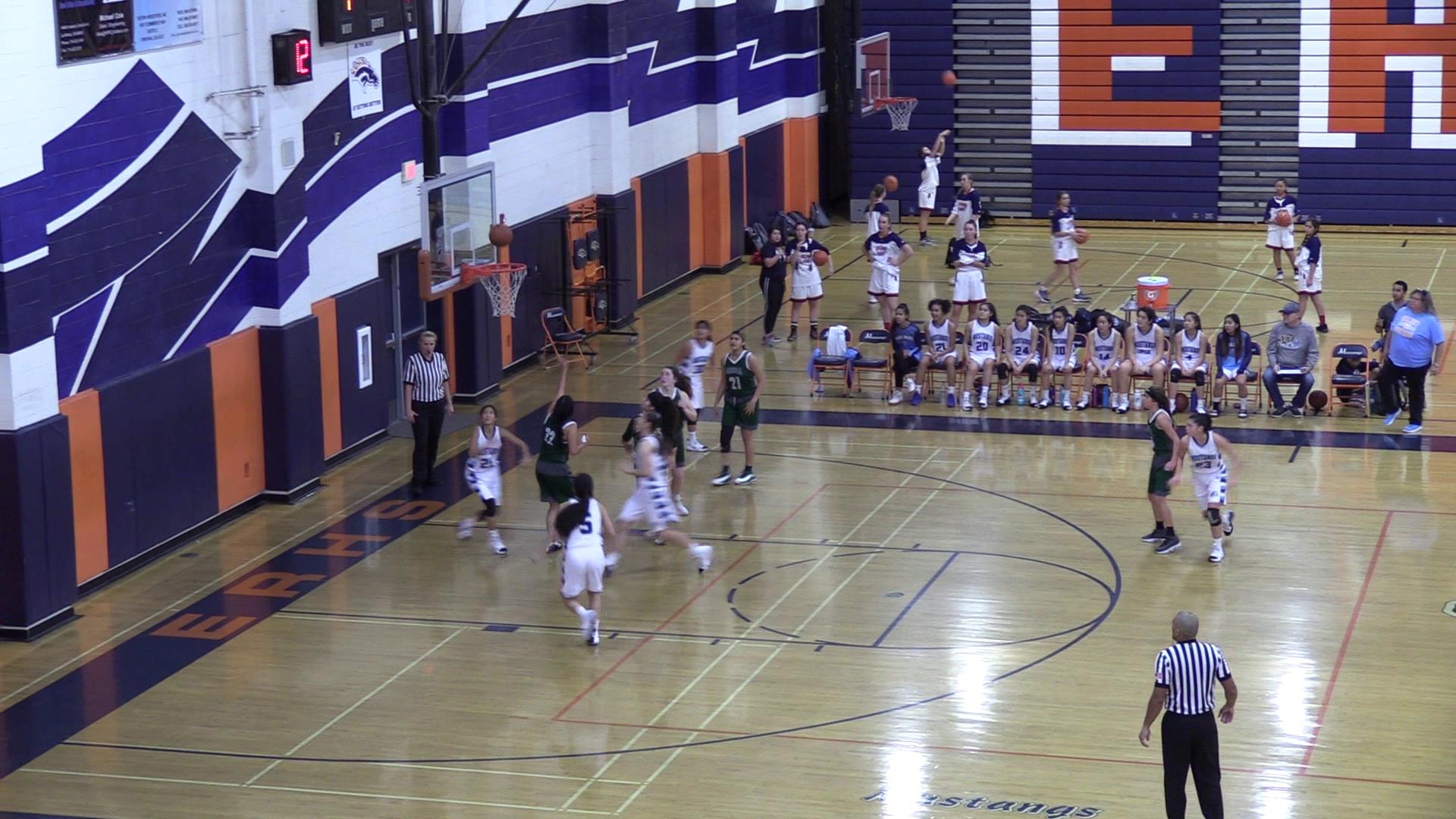 Girls Varsity Basketball beats Murrieta Mesa 54 – 46