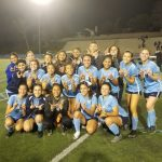 The girls varsity soccer team defeats West Covina 2-1.