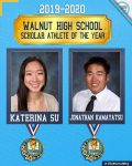 Congratulations CIF Scholar-Athlete Award Winners Jonathan Kamayatsu and Katerina Su