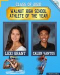 Congratulations Athletes-of-the-Year Seniors Lexi Grant and Caleb Santos
