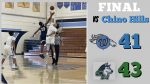 Boys Varsity Basketball falls to Chino Hills 43 – 41