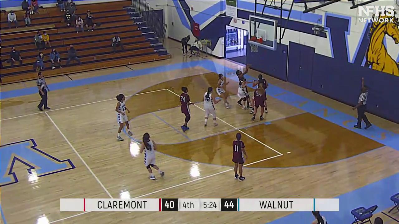 Girls Varsity Basketball beats Claremont 58 – 50