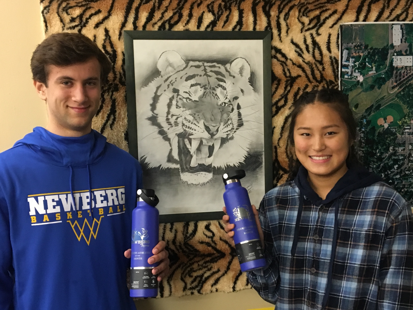Muthiah and Hampton, December Student-Athletes of the Month