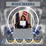 Ibarra Honored as Athlete of the Week