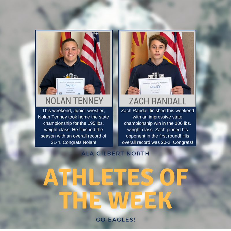 Tenney and Randall Take Home Athlete of the Week Award