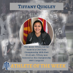 Quigley Makes Athlete of the Week
