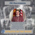 OG Halvorsen Named Athlete of the Week
