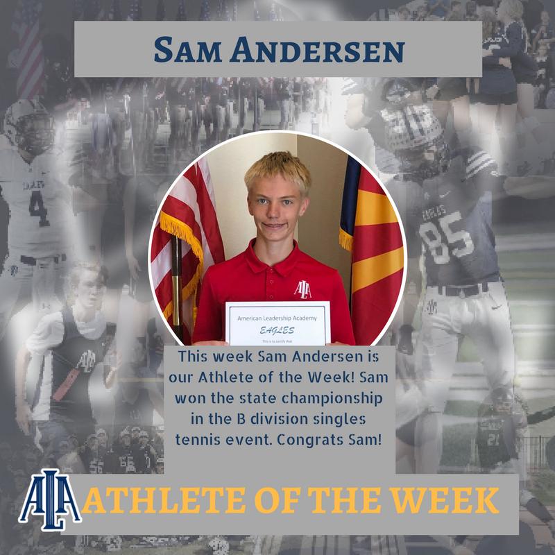 Sam Andersen receives Athlete of the Week Honor