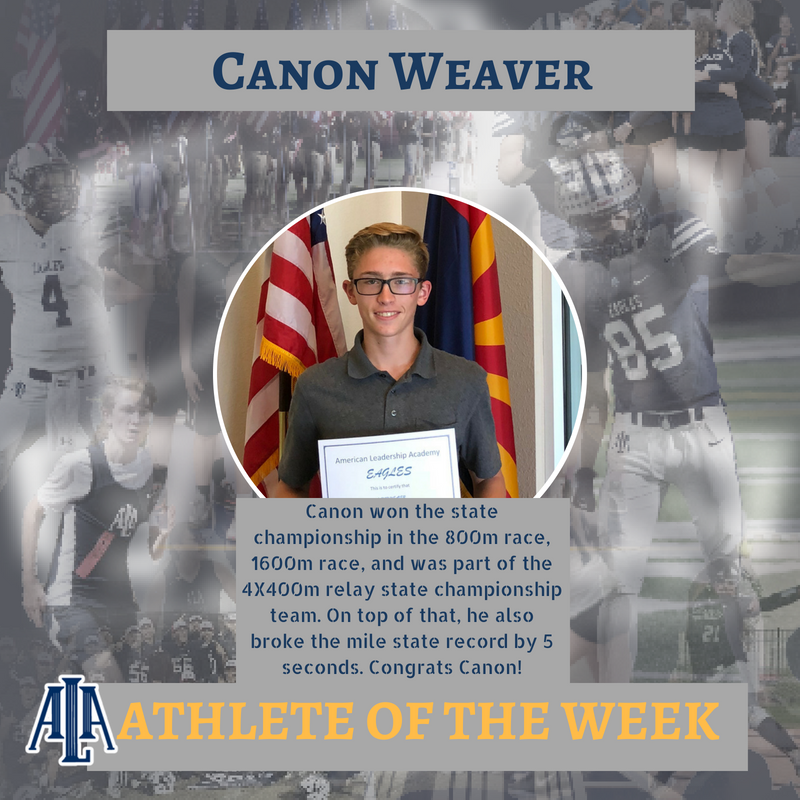 Canon Weaver Athlete of the Week