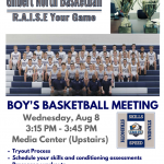 Boy's Basketball Meeting on Wednesday