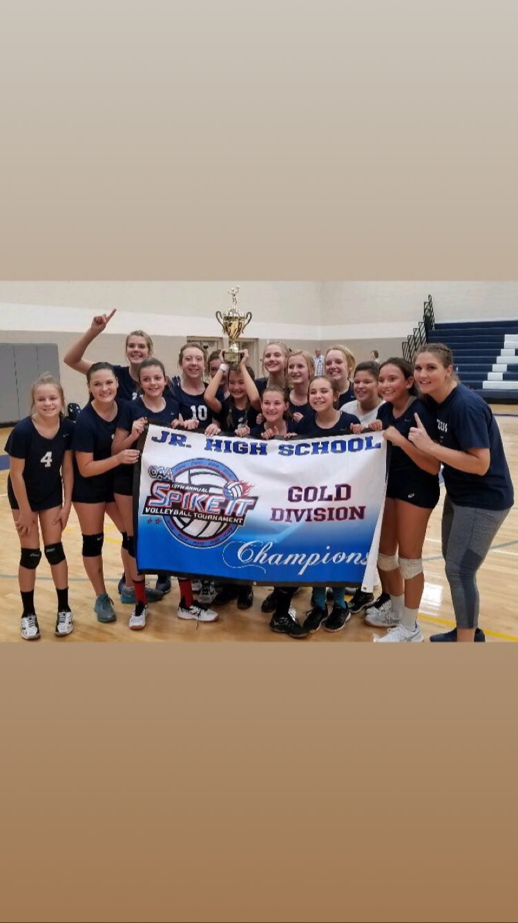 8th grade volleyball wins CAA Spike It tourney