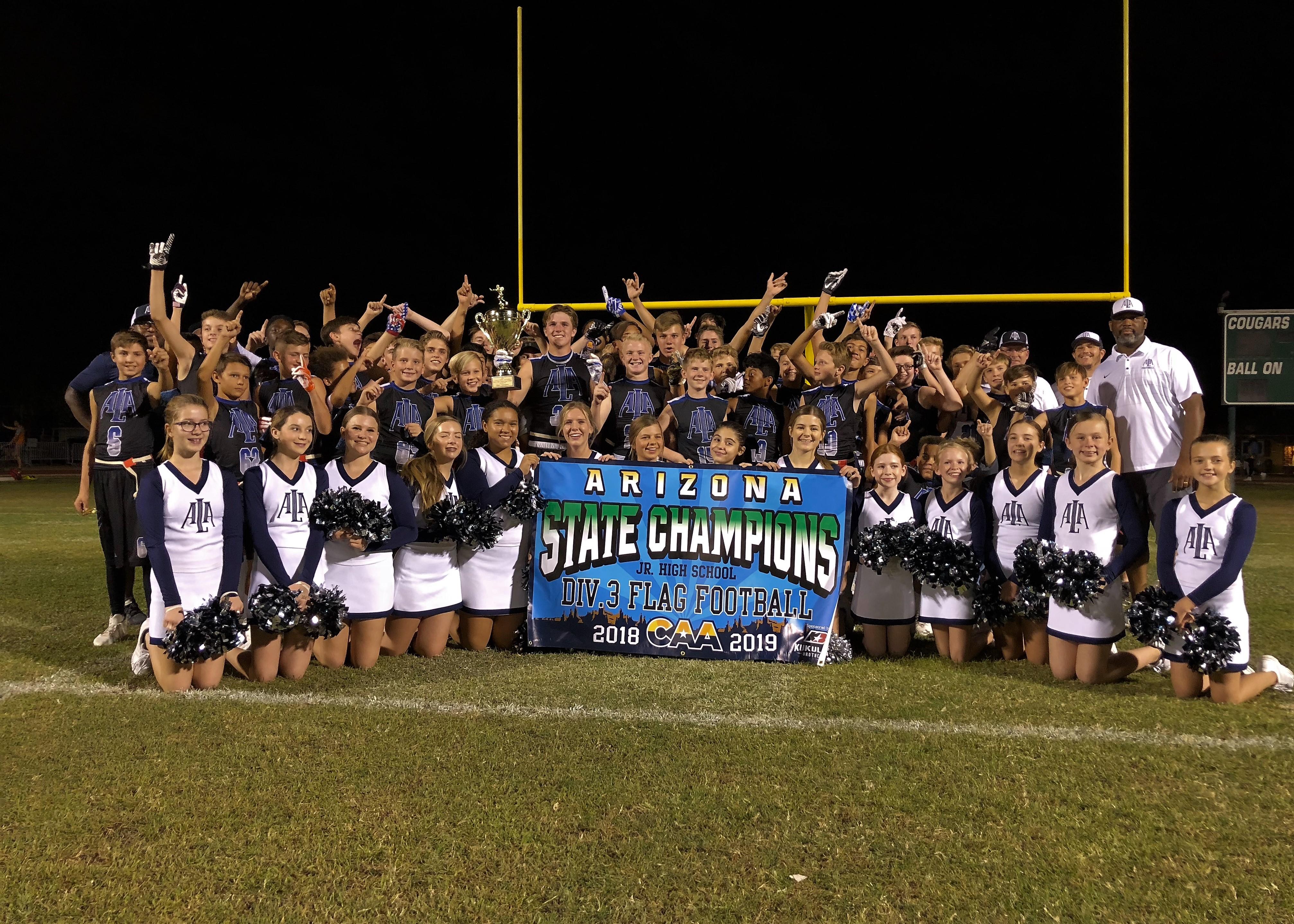 Junior High Flag Football wins CAA State Championship
