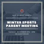 Winter Sports Parent Meeting – Nov 6