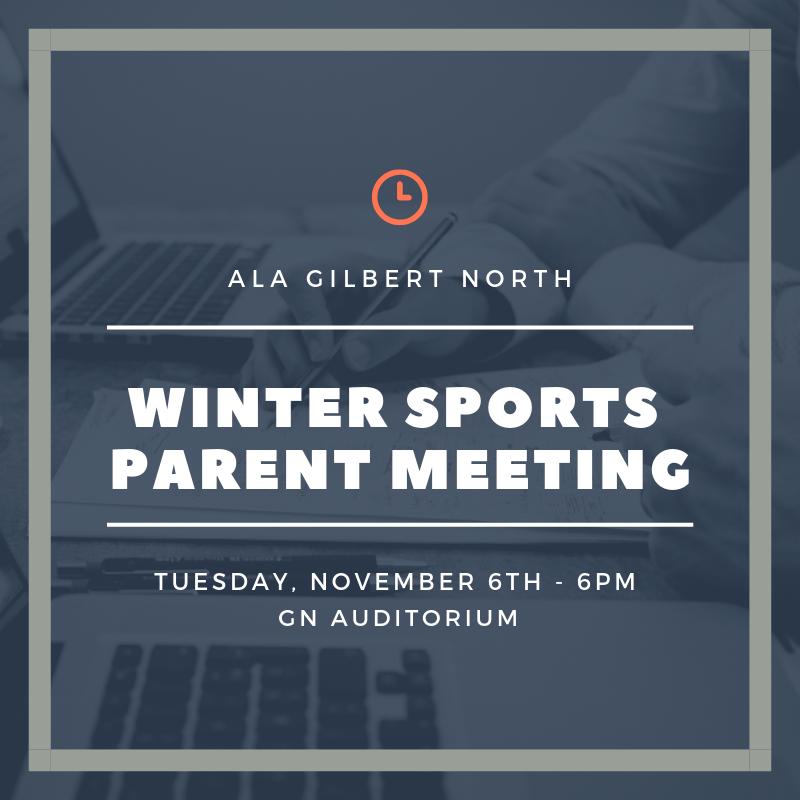 Winter Sports Parent Meeting – Nov 6
