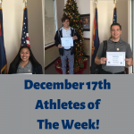 Athletes of The Week- Tiffany Quigley, Ethen Sherwood, Michael Moon