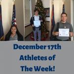 Athletes of The Week- Tiffany Quigley, Ethen Sherwood, Michael Moon