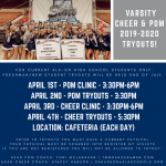 Varsity Cheer & Pom 2019-2020 Tryouts