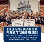 Mandatory Cheer/Pom Parent Meeting!