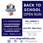 BACK TO SCHOOL BASKETBALL OPEN RUN