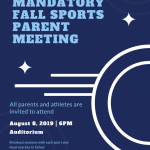 Fall Sports Parent Meeting
