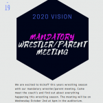 Mandatory Wrestling Meeting October 2nd