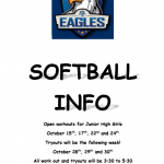 ATTENTION: Girls Interested in JH Softball