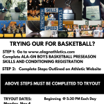2019 – 2020 BOYS BASKETBALL TRYOUT REGISTRATION