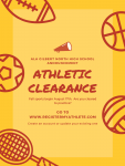 Athletic Clearance – August 17th