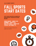 AIA announces start dates for fall sport