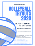 Junior High Volleyball Tryouts Oct 13