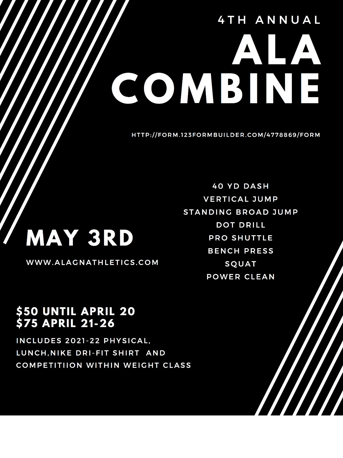 ALA Combine – May 3rd