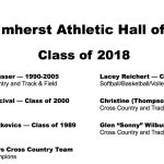2018 Amherst Athletic Hall of Fame Weekend: February 9th & 10th